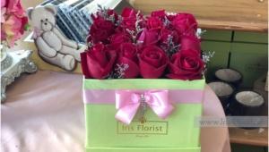 กล่องดอกไม้ กล่องกุหลาบแดง